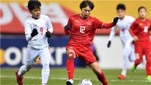 Ngân Thị Vạn Sự nói gì sau khi ghi bàn thắng quyết định đưa đội tuyển nữ Việt Nam vào vòng play-off?