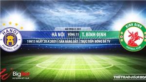 Soi kèo nhà cái Hà Nội vs Bình Định. BĐTV. Trực tiếp bóng đá Việt Nam hôm nay