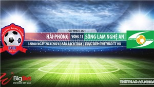 Soi kèo nhà cái Hải Phòng vs SLNA. TTTT HD. Trực tiếp bóng đá Việt Nam hôm nay