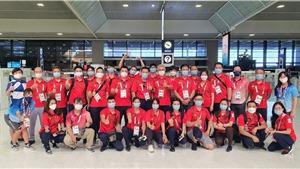 Đoàn Thể thao Việt Nam chia tay Olympic Tokyo về nước