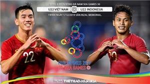 VIDEO VTV6 trực tiếp bóng đá Việt Nam vs Indonesia, Seagame 30