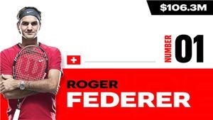 Top 10 cây vợt giàu nhất thế giới năm 2020: Federer vẫn vô đối