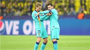 Barca: Messi cần De Jong trợ giúp