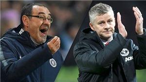 Chelsea vs MU (2h30, 19/2): Sarri căng thẳng, Solskjaer lo lắng