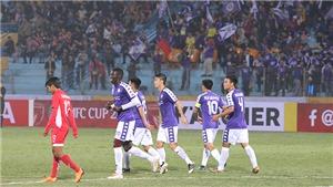 Hà Nội FC thắng đậm Naga World, Bình Dương bị cầm hòa