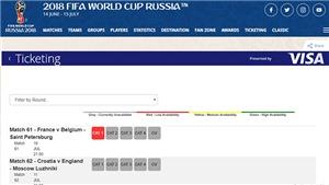 Vé xem bán kết World Cup 2018 giá bao nhiêu?