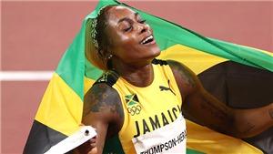 Thompson-Herah đi vào lịch sử với cú đúp huy chương vàng