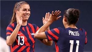 Bóng đá nữ Olympic: Mỹ thắng New Zealand đậm nhưng còn rất nhiều vấn đề