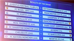 Bốc thăm vòng 1/8 Champions League: M.U và Man City số đỏ, Liga gặp 'tử thần'