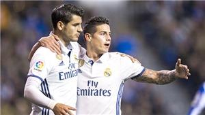 Ở Real Madrid, Zidane cho mượn James để 'bù đắp' cho Morata?
