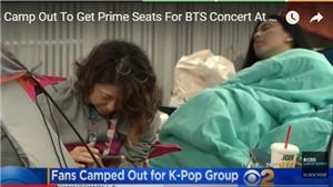 Fan 'ăn chực nằm chờ' đón xem màn diễn của BTS ở Los Angeles