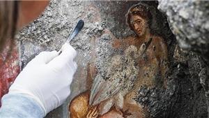 Phát lộ bích họa màu mô tả cuộc tình tự giữa nàng Leda và con thiên nga tại tàn tích Pompeii