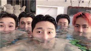 Lộ ảnh V (BTS), Park Seo Joon mừng sinh nhật tại… bể bơi