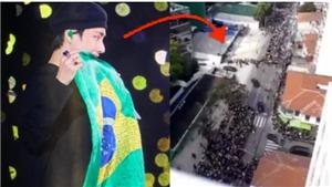 ARMY Brazil tràn xuống phố đón thần tượng, nhưng vẫn không quên hành động dễ thương này