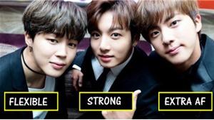 Jungkook, Jin và Jimin có phong cách tập thể lực rất khác nhau