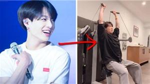 XemJungkook 'lợn cơ bắp' của BTS   tập gym
