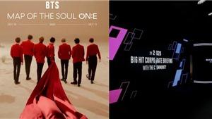 BTS tổ chức hòa nhạc MAP OF THE SOUL ON:E vào tháng 10