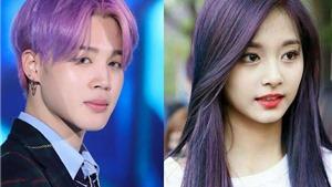 Fan 'đứng hình' khi ngắm các thần tượng K-pop với mái tóc tím: Jungkook, V BTS, Tzuyu Twice…