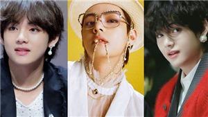 V BTS đích thực là 'vua' của phụ kiện ngọc trai