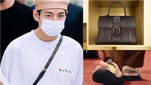 V BTS lại 'gây bão' truyền thông với chiếc túi xa hoa 50.000 USD và… ngón chân cái