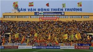 Sân Thiên Trường đón khán giả tại vòng 4 V-League 2021