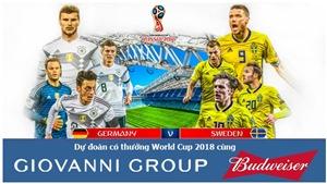 Dự đoán có thưởng World Cup 2018: Trận Đức – Thụy Điển