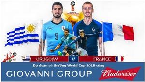 Dự đoán có thưởng World Cup 2018: Trận Uruguay – Pháp (Vòng tứ kết)