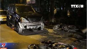 Nữ tài xế đâm xe liên tiếp tại Hà Nội, 6 người nhập viện