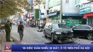 VIDEO: Ô tô mất lái đâm vào hàng loạt xe máy, một người đã tử vong