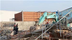 Sập công trình trong khu công nghiệp Giang Điền: Đã có 10 chết, 15 người bị thương