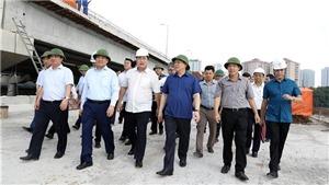Bí thư Thành ủy Hà Nội kiểm tra đôn đốc đẩy nhanh tiến độ các dự án giao thông trọng điểm