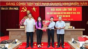Vĩnh Phúc: Phó Chủ tịch Thường trực UBND tỉnh Lê Duy Thành được bầu giữ chức Phó Bí thư Tỉnh ủy