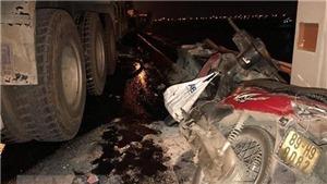 Sau tai nạn, xe đầu kéo cuốn nạn nhân đi gần 60km