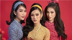 Top 3 Hoa hậu Việt Nam 2020 gợi ý chọn áo dài Tết