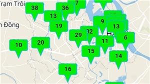 Chất lượng không khí tốt ở tất cả khu vực tại Hà Nội