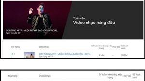 'Muộn rồi mà sao còn' đứng đầu Youtube khiến Sơn Tùng M-TP 'không biết nói gì luôn'