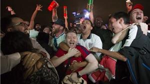 Nước Anh một đêm thức trắng vì...cổ động viên