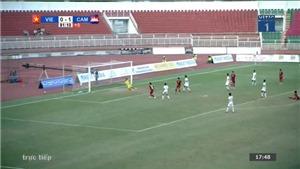 VIDEO: Bàn thắng và highlights U18 Việt Nam 1-2 U18 Campuchia