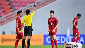 Vì sao nhận thẻ đỏ ở giải U23 châu Á, Đình Trọng lại vắng mặt tại vòng loại World Cup?
