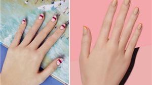 Những thiết kế nail đơn giản mà ấn tượng từ đồ dùng văn phòng