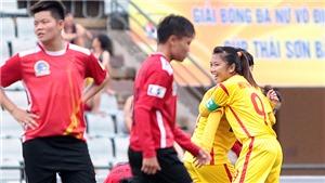 ĐKVĐ thắng đậm ở giải nữ VĐQG – Cúp Thái Sơn Bắc 2018