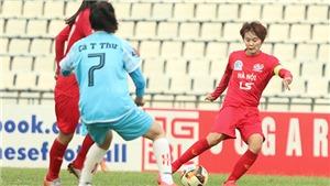 Sân Hà Nam gặp sự cố ở giải bóng đá nữ VĐQG 2019