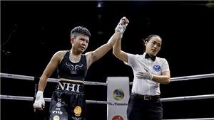 Mất hơn 10 giây, nữ võ sĩ Việt hạ đo ván đối thủ Thái Lan