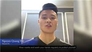 Quang Hải được AFC chọn để truyền cảm hứng cho toàn cầu