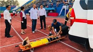 Cầu thủ SLNA chấn thương nặng