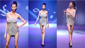 Hoảng hốt Cao Ngân gầy trơ xương đêm chung kết Vietnam's Next Top Model 2017