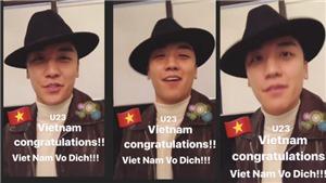 VIDEO Seungri (BigBang) chúc mừng U23 Việt Nam: 'Giấc mơ đã trở thành hiện thực'