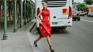 Minh Tú diện trang phục của NTK Xuân Lê, khoe vẻ 'sang chảnh' ở Melbourne