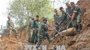 Hủy nổ thành công quả bom Mỹ nặng 150 kg tại thành phố Điện Biên Phủ