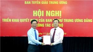 Đồng chí Bùi Trường Giang được bổ nhiệm làm Phó Trưởng ban Tuyên giáo Trung ương